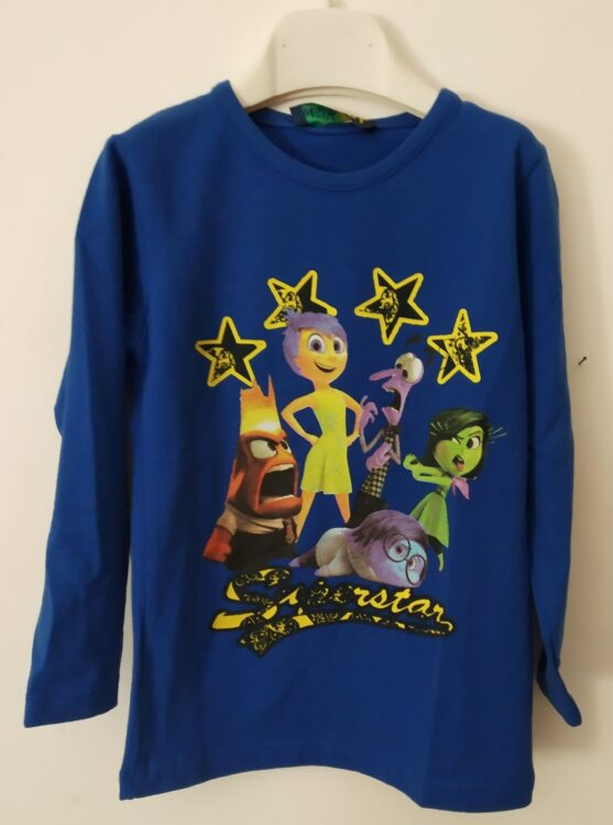 t-shirt m/l inside out blu