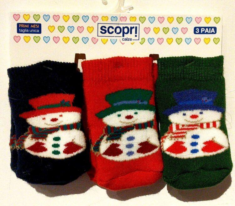 set 3 calzini neonato natale