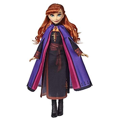 Disney Frozen 2 - Anna (Fashion Doll con Capelli Lunghi e Abito Blu, Ispirata al Film Frozen 2)