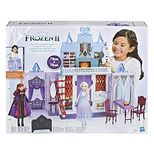 Disney Frozen 2 - Castello di Arendelle pieghevole (casa delle bambole ispirata al film Disney Frozen 2, Gioco portatile adatto a bambini dai 3 anni in su)