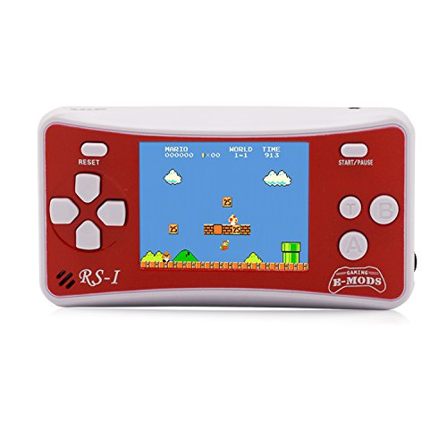 "E-WOR Videogiochi Portatili Portatili 2.5 ""LCD Retro Video Gaming 162 Giochi Built-in Play on TV Miglior Regalo per Bambini su Birthday Christmas (Red)"