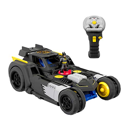 Fisher-Price GBK77 Imaginext DC Super Friends Transforming Batmobile R/C, Multicolore