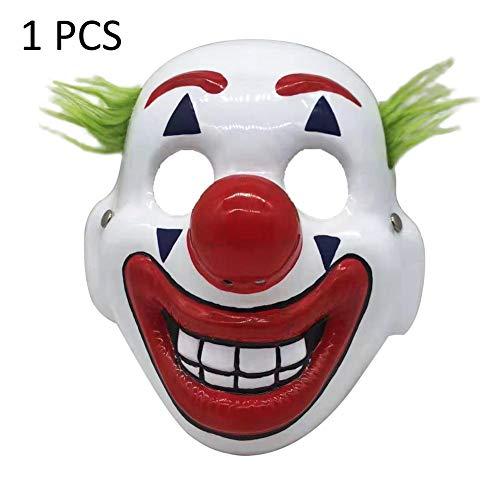 fridaymonga Maschera da Clown ,Halloween Horror Latex Clown Maschera per Adulti Bambini Cosplay DC Movie Spaventoso Clown Costume da Festa di Halloween, Taglia Unica