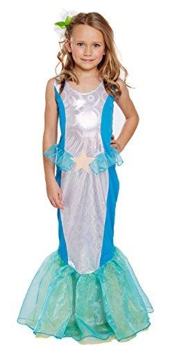 Girls Kids Little Mermaid World Book Day Fancy Dress Costume All Ages VEX U00245/246/247 (7-9 years)
