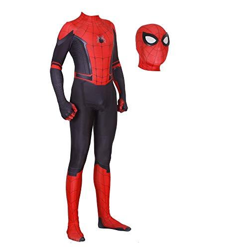 JUFENG New Adult Kids Spider-Man 2019 Costume di Halloween Tuta 3D Stampa Spandex Lycra Spiderman - Costume Cosplay Tuta,C-Adult/M