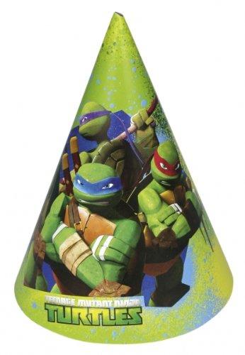 Party Stuff 4U - Cappellini di carta Tartarughe Ninja, confezione da 6 pezzi