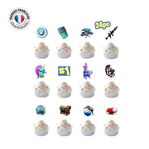smarty - 24 Pezzi Gaming Party Supplies Torta di Compleanno, Decorazione di Torta di Compleanno