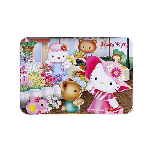SNUUR-ZH Hello Kitty Puzzle da 100 Pezzi per Bambini in Una Scatola , Belle opere d'Arte Puzzle Pezzi di Cartone robusti Mini Puzzle per Regali per Bambini (Four Seasons Flower Shop)