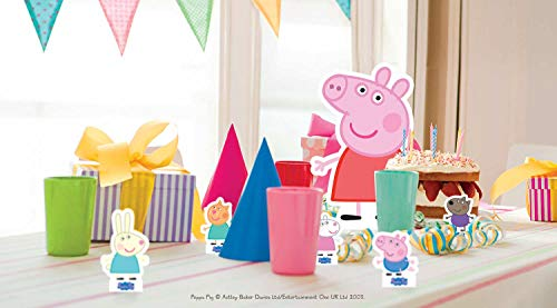 Star Cutouts TT07 ufficiale Peppa Pig and Friends party Table top Cutouts, multicolore