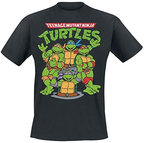 Tartarughe Ninja Group T-Shirt Nero XL