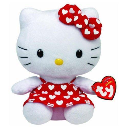 TY Beanies - Peluche Hello Kitty con vestitino rosso