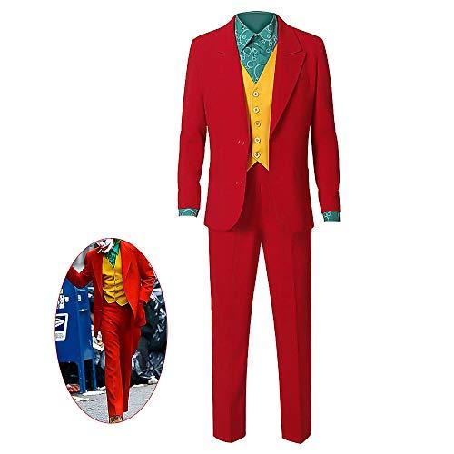 Xuyingyi Costume da Joker Vestito di Halloween 2019 Film Cosplay Camicia Gilet Pantaloni Vestito Vestito Clown Vestito Operato Abbigliamento per Uomo Adulto Bambino