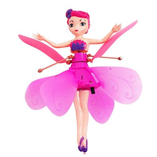 Daxoon Flying Toy Fairy Princess Aereo con sensore a infrarossi, Un Buon Regalo per i Bambini (Senza Telecomando)