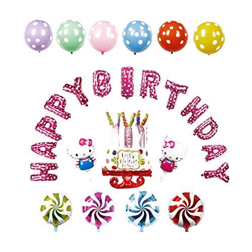 Hello Kitty lettere Happy Birthday palloncini foil aluminum Birthday Ballon party Decorations Supplies