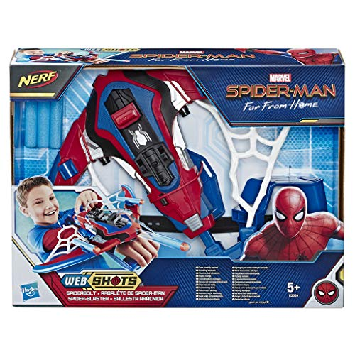 Spider-Man: Far From Home - Web Shots Spiderbolt, Blaster Nerf con Dardi