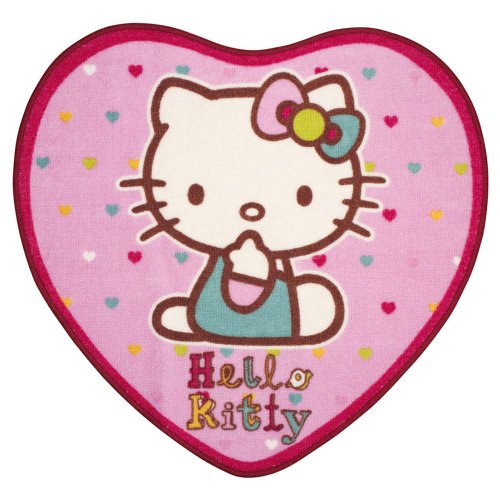 Tappeto Sagomato Cuore Hello Kitty