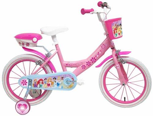 """Disney Princess Bicicletta con rotelle rosa 16"""""""