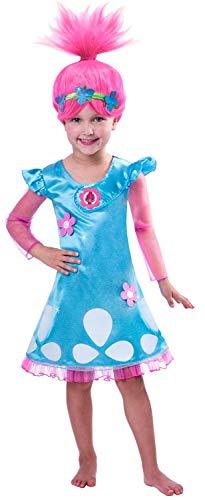 Trolls - Costume di carnevale Poppy 5-6 anni