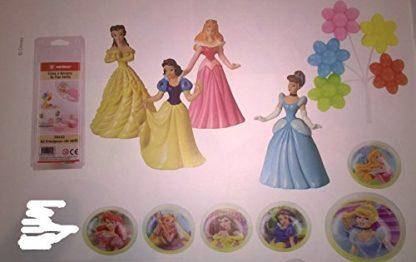 Decorazioni torta Principesse Disney con anelli