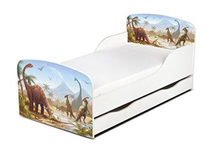 Lettino Dinosauri con cassettone incluso