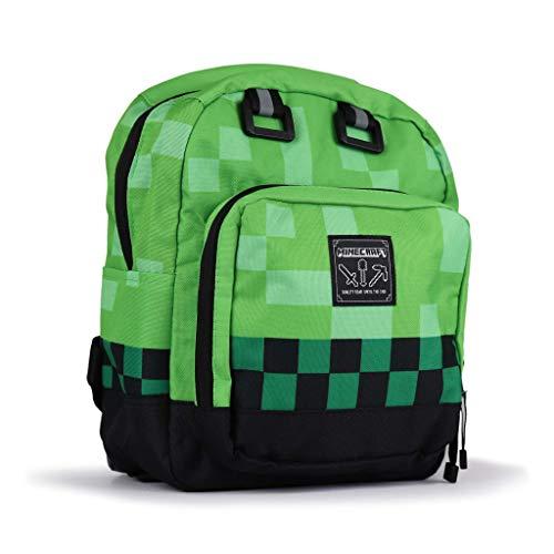 Zaino elementari/medie Minecraft verde