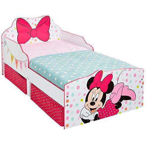 Lettino Minnie Mouse con contenitori