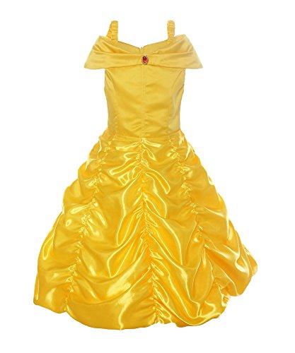 Costume in raso giallo Principessa