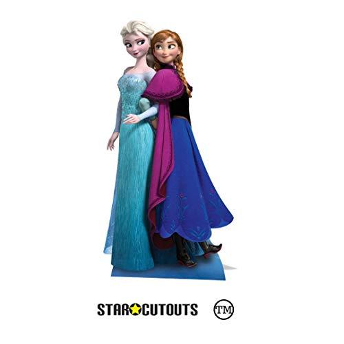 Sagoma Anna e Elsa Disney Frozen 162cm