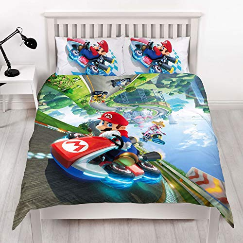 Parure copripiumino matrimoniale Nintendo Super Mario Kart