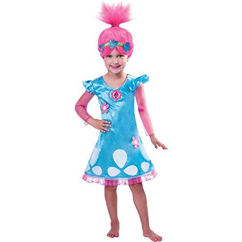 Trolls - Costume di carnevale Poppy 3-4 anni