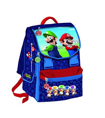 Zaino Estensibile Scuola Super Mario Bros e Luigi