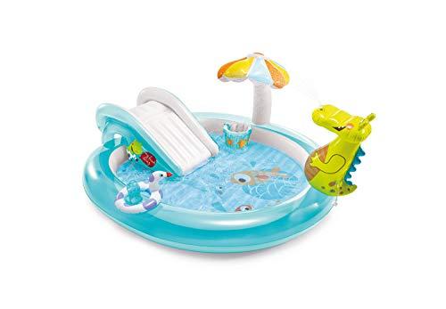 Piscina Play Center Alligatore Con Spruzzo Intex