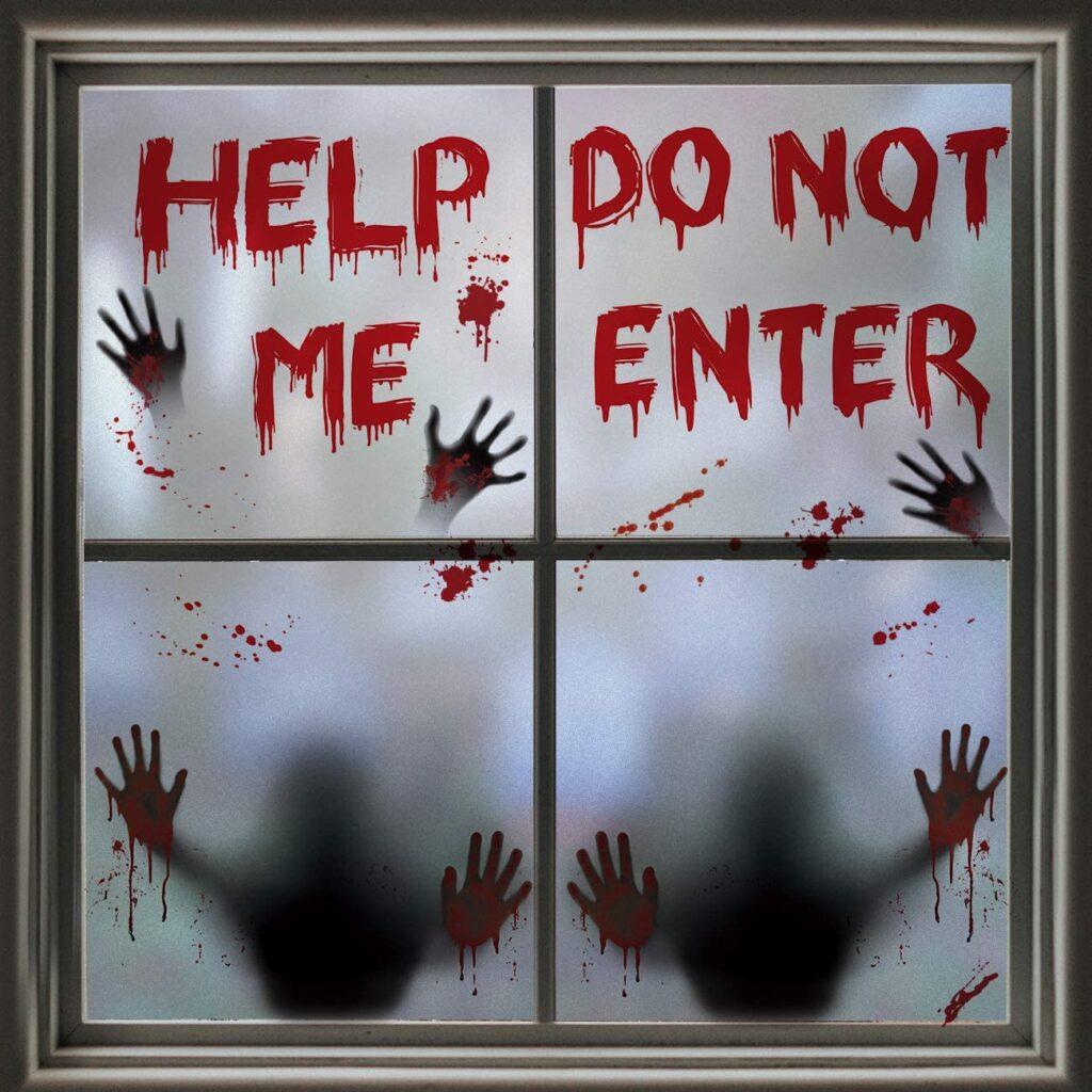 adesivi spaventosi per finestra