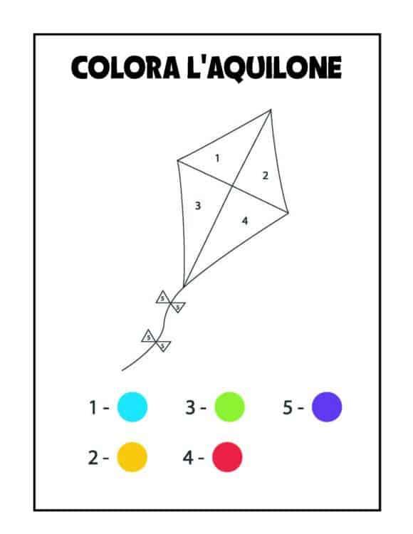 Album colora per numeri aquilone
